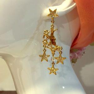 Kirks Folly Jewelry - Vintage Kirks Folly crystal star earrings